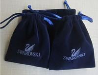 on sale, 10pcs/lot , 8*10 cm,square shape,brand  jewelry dark blue color pouches