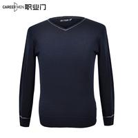 Male male V-neck sweater slim casual sweater pullover sweater male