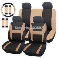 14 PCS/Set Car Seat Cover Polyester Universal Fit For Car Truck Suv Van+ Steering Wheel Cover + 2 PCS Car Seat Belt Shoulder