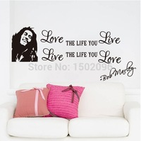 Hot 1pc 2015 new Love Love  wall sticker for kids bedroom living room wall decoration removable Free shipping