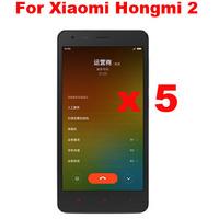 5pcs /lot High Clear LCD Screen Protector Screen Guard Screen Film For  Xiaomi Hongmi 2 Redmi 2