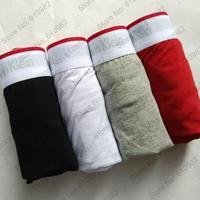 4 pcs/lot Mens Underwear Men Cotton Best quality Boxers Red Edge Color Black Gray White Red
