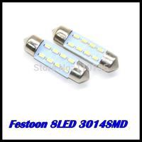 wholesale 10pcs/lot 31MM 36MM 39MM 41MM 8SMD 3014SMD C5W Interior Festoon car LEDs Bulb White auto led lamp
