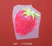 Free shipping /17*18cm/Cartoon strawberry Iron On Transfers Film Cartoon Patch /wholesale