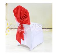 Satin Chair Cap Chair Hood 70cm*140cm Red Color