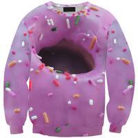 Women Hoodies Sweet Cake Sweatshirts 3D Donuts Printed Pullovers Sportswear Hansel und Gretel Tracksuits S17-452