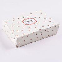 White cherry for you Cake Box, Favor, Gift, Party packaging box  30pcs/lot  30pcs/lot 18.2cmX12.2cmX4.8cm