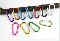 free shipping 10pcs/lot 5# Mountaineering Buckle Aluminum Climbing Carabiner Keychain Climbing Hook Fit Outdoor Use