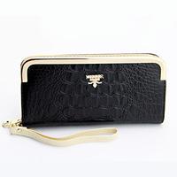 New Style High Quality Women Wallets Brand Designer Fashion crocodile Leather Zipper Long Purse Women wallet purse mobile bag