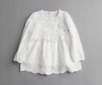 2015 Girl's spring lace pure cotton dress , girl dress princess , kids costumes girls , 5pcs/lot   MWQ06