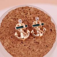 FREE SHIPPING Hot Sale Alloy Anchor Earrings,E3579