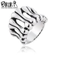 US Size 8-13 Dog Bone Ring For Boy Girl Beier 316L Stainless Steel Punk Biker Titanium Steel Fashion Jewelry Wholesale BR8117