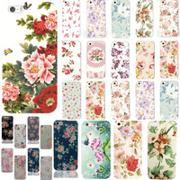 """22 Types New Hot Selling Cover Protector For Apple iPhone 5/5S/5G 4.0"""" Cute Fashion Colorful Flower Pattern Plastic Case Back"""