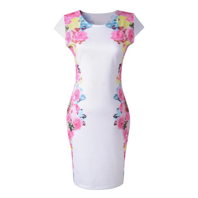 The new women's European leg of European and American big white star print dress sleeveless dress A688(China (Mainland))