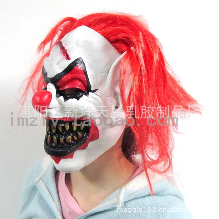 Nariz vermelho cabelo vermelho fantasma máscara de Halloween horror assustador adereços cosplay carnaval(China (Mainland))