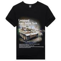 Leopard Main Battle Tank Cool t-shirt Tops Short Sleeve Shirt Tee for man