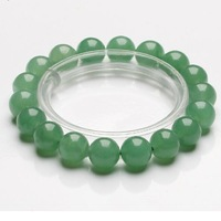 Free shipping Natural 6/8/10/12MM genuine crystal Lucky Green Aventurine bracelet genuine Wheel gem beads not dyed in 2015