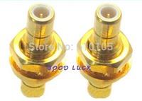 20pcs/lot Conenctor SMB male to SMB plug bulkhead panel mount connector straight Adapter