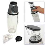 Free shipping 500ml Glass Oil And Vinegar Dispenser Measurable Pressing Button Olive Oil Bottles Kitchen Tools - WFA0049