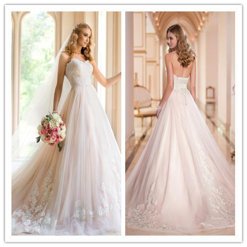Wholesale modern victorian sweetheart applique winter wedding dresses