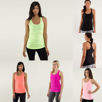 Wholesale Luon Yoga Scoop Tanks,Discounted Yoga Tank/Vest/Tops,Free Shipping,Available size:2,4.6.8.10.12