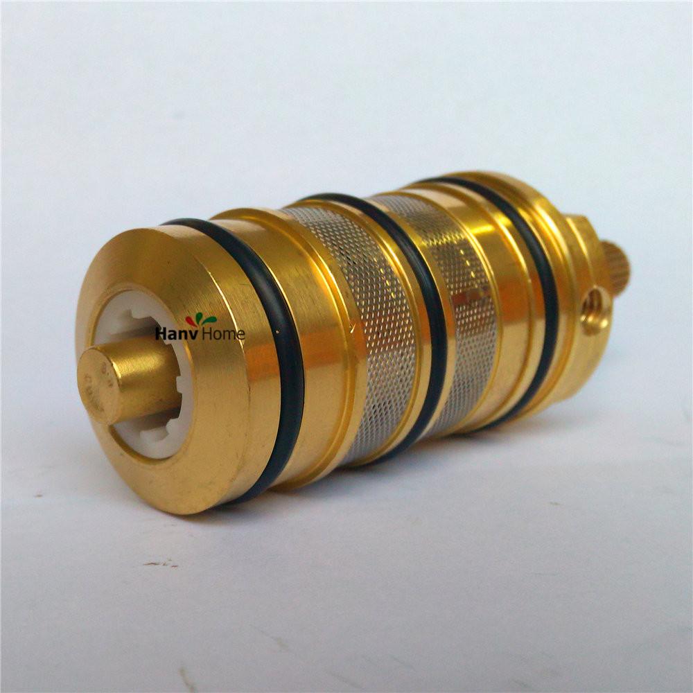 Acquista valvola termostatica di rame della bobina cartuccia rubinetto vasca da for Rubinetto vasca da bagno