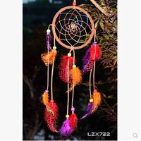 2015 New Arrival Mascot  Wind Chime Handmade  Colorful  Dreamcatcher Angin Indian Original Retro Pendant Dream Catcher A294