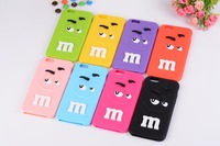 "Colorful Cartoon Rainbow Bean Finger MM Phone Case For iPhone 6 iphone 6 plus 5.5 ""Candy Soft Silicon cases"