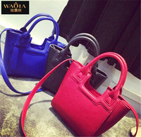 The New 2015 European And American Style Women Handbags PU Lady Popular Single Shoulder Bag Natural Color Vintage Messenger Bag