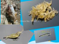 10 pcs/lot Glow in the dark Lumo Soft Fishing Lure Tackle Bait Shrimp Prawn Yabbie Life-like with Fish Hook