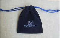 on sale, 50pcs/lot , 8*10 cm,square shape,brand  jewelry dark blue color pouches