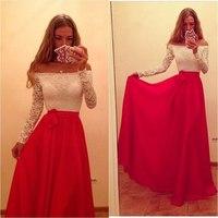 Party Dresses Direct Selling Vestidos 2015 Women Dress European And American Long-sleeved Chiffon Sexy Long Vestido De Festa
