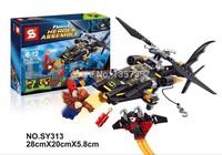 Original Box Batman Man-Bat Attack Set SY313 Building Blocks Sets Model Toys For Children Lego Compatible