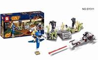 Original Box Star Wars Battle on Saleucami SY311 Building Blocks Sets Model Toys For Children Lego Compatible