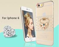 Luxury Bling Phone Bag For iphone 6 4.7 case cover Handmade Diamond mobile back cover