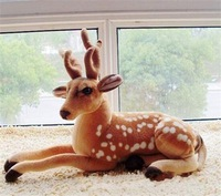 2015 New Baby Toy Stuffed Artificial Simulation Animal Deer Plush Soft Toy Gift