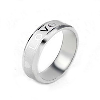 Brand new fashion jewelry gift 316L steel ring TOP LOVE Heart Lovers Rings Men's Rings