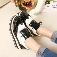 New 2015 Retro British fashion heavy-bottomed platform shoes wedges comfortable casual women shoes size35-40