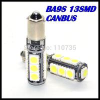 2015 NEWS!! Free shipping 2PCS/lot Car Auto LED ba9s led 194 W5W Canbus 13smd 5050 LED Light Bulb No error led light