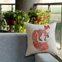 New design Home Decorative Sofa Cushion pillow cover Throw pillowcase 45*45cm dakimakura Cotton Linen Square cute fox