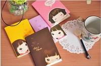 Min Order $15(mixed order)  Korean stationery cookie Girl  Car suture  Notepad /notebook  Color random  3121al