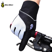 WOLFBIKE Brand GEL Full Finger Men Winter Warm Cycling Gloves Slip for mtb riding bike/bicycle 3 Colors