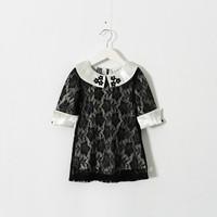 New 2015 girls Boutique lace dress baby girls party dress 5pcs/lot