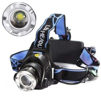 Rechargeable 2000Lm CREE XM-L T6 LED 18650 Zoomable Headlamp Headlight Torch