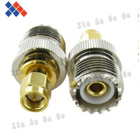 5PCS SL16 female SMA SMA male UHF female head turns head. UHF conversion plug. SL16 head. UHF/SMA - KJ Free shipping
