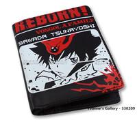 Reborn Series Sawada Tsunayoshi Pattern Fashion Cute Short Style Two Fold Leather Hasp Wallet Free Shipping