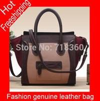 2015 New women handbag fashion patchwork designer high quality ladies office messenger bag luxury shoulder bags Free shipping