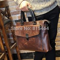 Vintage designer brand men's messenger bags Crazy Horse leather man bags hot sale casual-bag postman bag shoulder bags for men