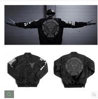 Free shipping Fashion brand xpx unisex embroidery badges coat slim jacket baseball uniform male brief paragraph coat jacket