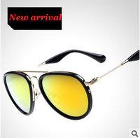 Women's Sunglasses Aviator Mirror Oculos Feminino 2015 Hot Glasses Round Fashion Sports Alloy Frame High quality 7 clor sg258